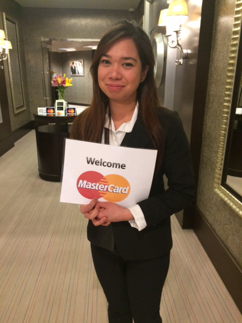 Ruthcherry Melis is a promoter/hostess at the MasterCard lounge at the Queen Alia International Airport in Amman, Jordan. She hails from Cavite. (Photo by Mona Lisa Yuchengco)
