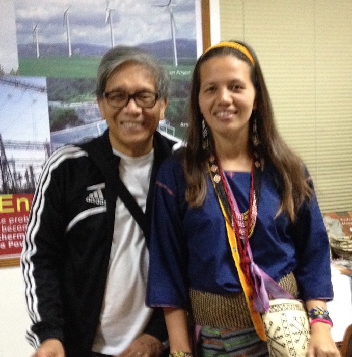 The author with Anya Postma, Calapan, Oriental Mindoro (Photo courtesy of Dr. Michael Gonzalez)