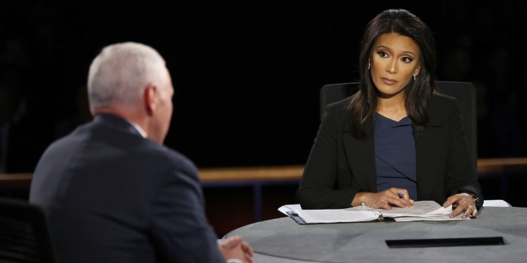 Elaine Quijano questions then Vice Presidential candidate Mike Pence (Source: CBSN)