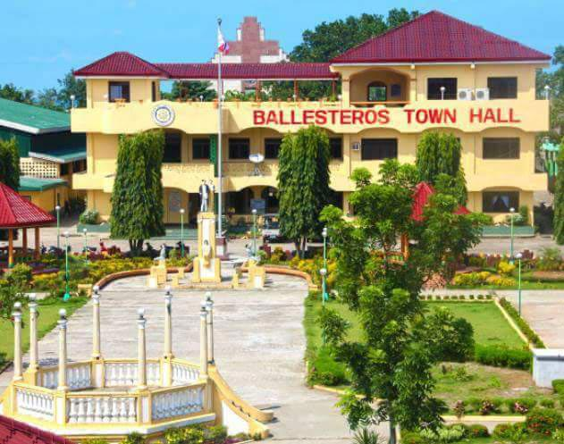 The People's Park and the town hall in Ballesteros, Cagayan. (Photo courtesy of Merlita Usita Campañano)
