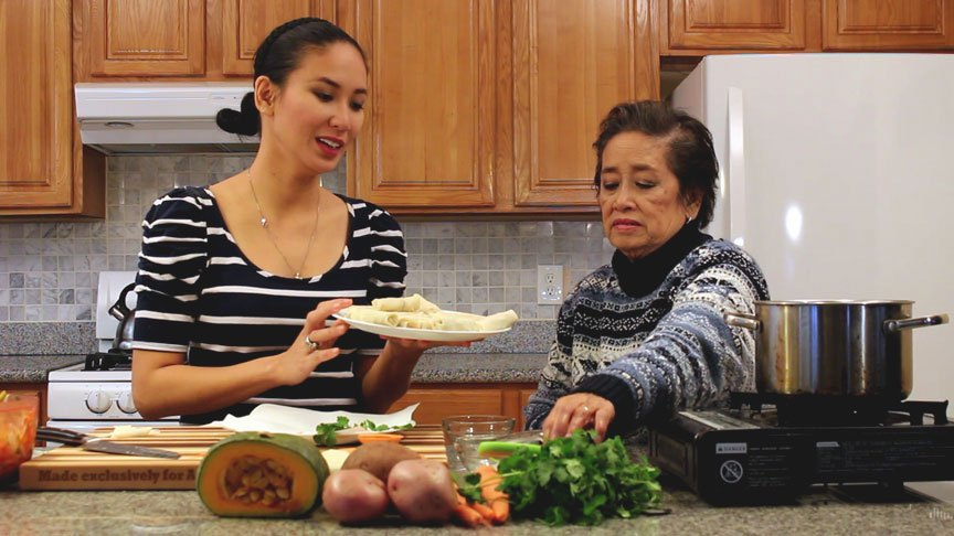 Chef Richgail Enriquez and Mommy Henya (Photo by Astig Vegan)