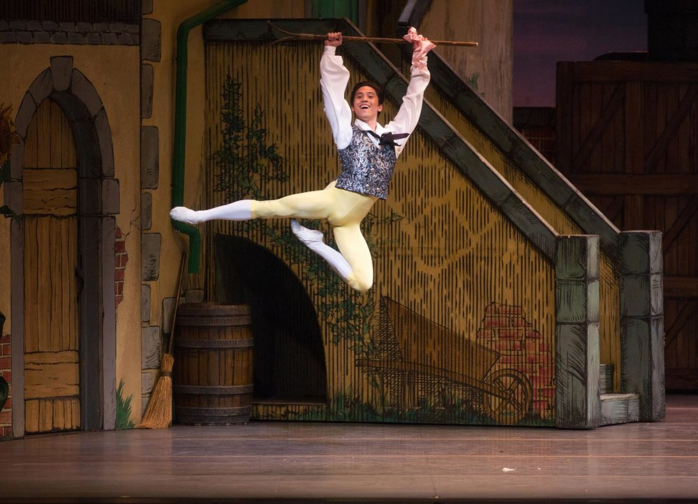 Jeffrey Cirio in La Fille mal gardee. (Photo by Rosalie O'Connor)