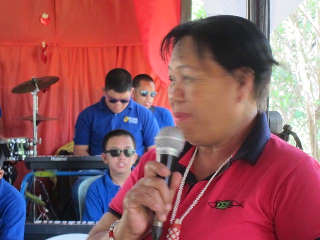 Lolita Inocentes, a retired teacher, just joined the Davao School for the Blind a year ago as its principal.