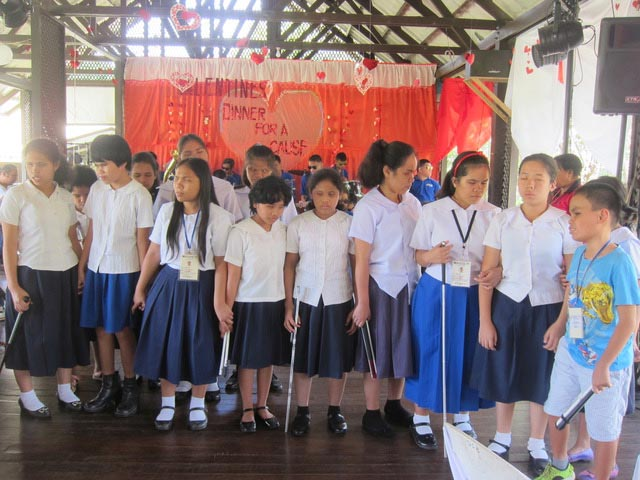 The children sing a Thank You song at the end of the program.