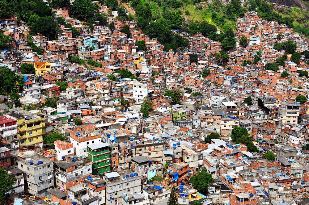 Rocinha, a favela in Rio de Janeiro, Brazil (Source:  GFDL )