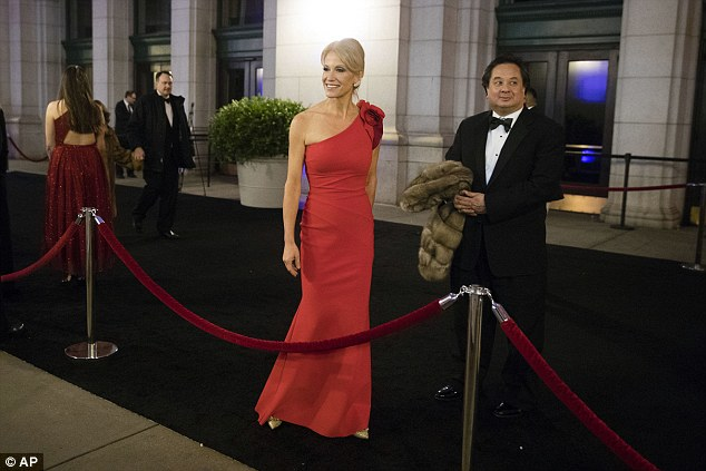 White House counselor Kellyanne Conway and her husband, George (Source: AP)