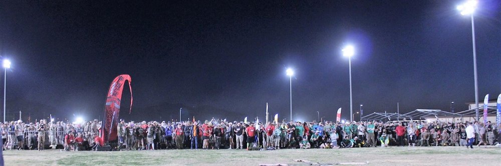 More than 7,000 marchers get set to start this year's Bataan Memorial Death March. (Photo by Jon Melegrito)