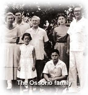 "One known, surviving photograph of the Miguel Ossorio family, cousins of the Godino twins. Lady on the left might be Paz Yangco-Ossorio; second young man behind her (Frederic?); senior man in middle is Don Miguel, patriarch of the family. Young lad kneeling could be Roberto. Alfonso, the painter, is on extreme right, who is the subject of a new play, ""Angry Christ,"" by Floy Quintos, playing at the University of the Philippines this very month, April 16-May 14, 2017."