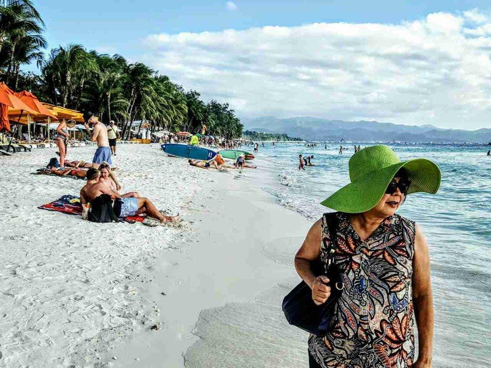 The white sand beach at Boracay (Photo courtesy of Gemma Nemenzo)