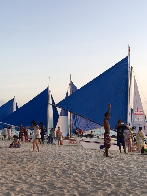 Sailboats for hire in Station 3 (Photo by Gemma Nemenzo)