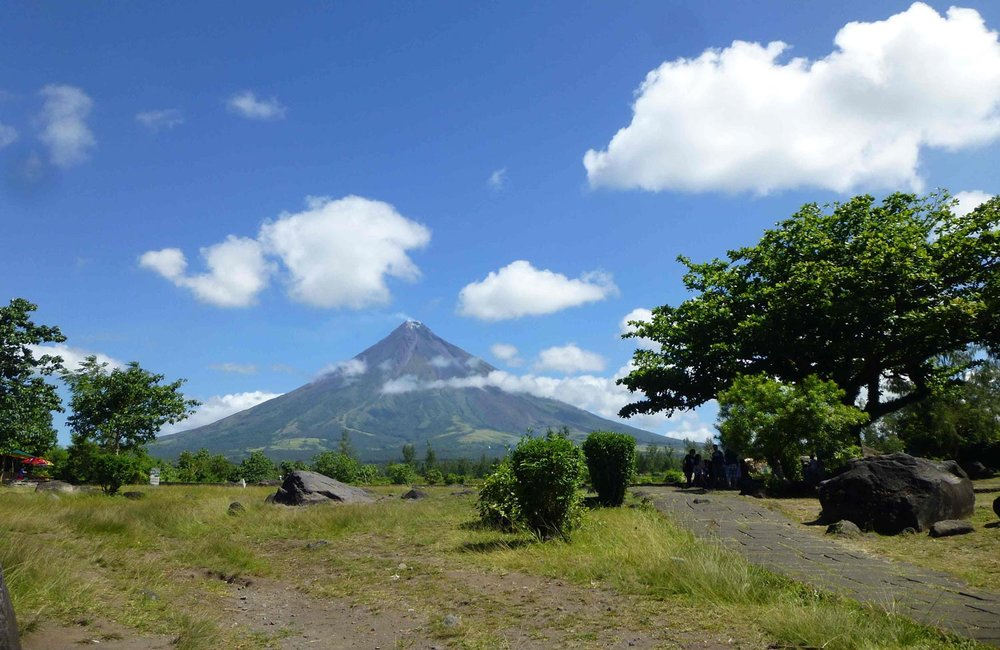 View of Mayon from the town of Cagsawa (Photo by Criselda Yabes)