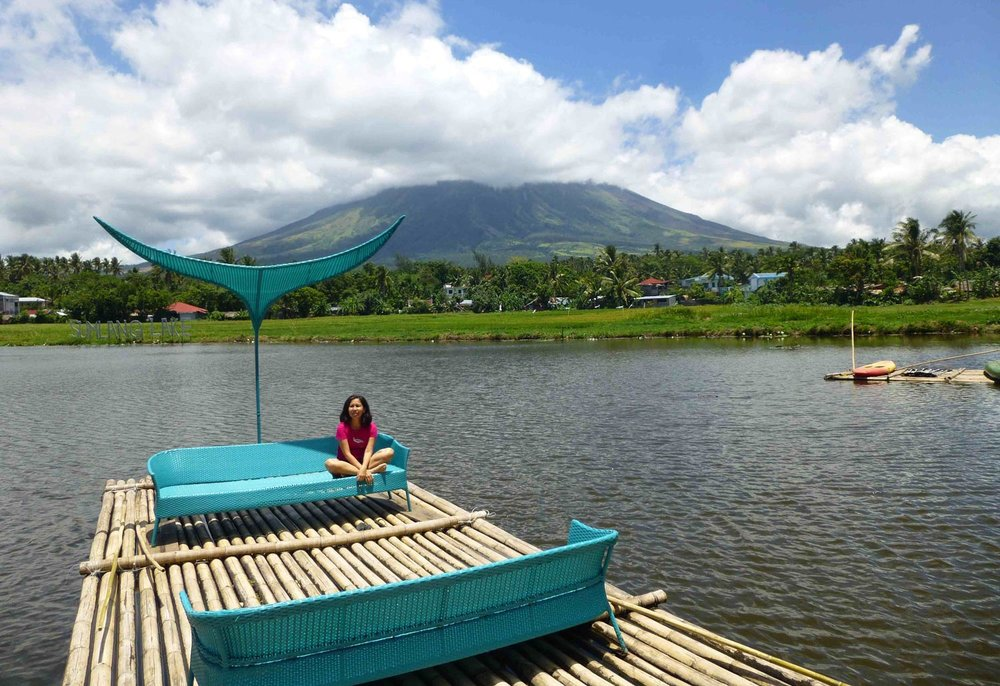 A view of the volcano from a raft on Sumilang Lake (Photo courtesy of Criselda Yabes)