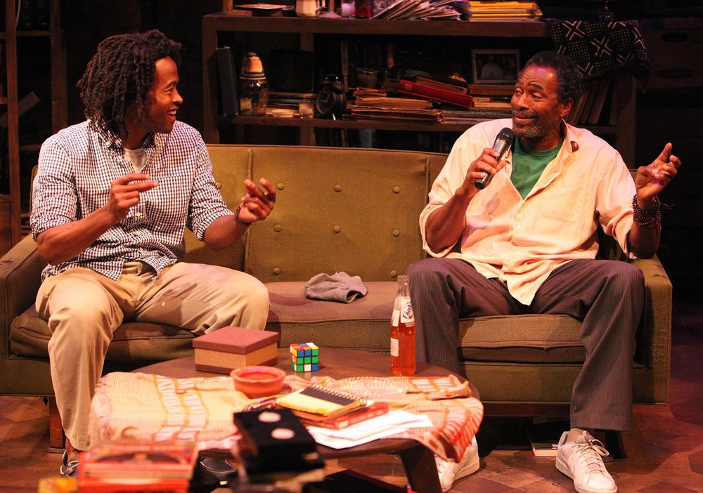 "(L-R) Rafael-Jordan and Carl Lumbly in ""Grandeur"" at Magic Theatre (Photo by Jennifer Riley)"