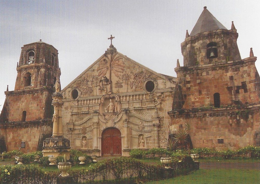 Church of St. Thomas of Villanova in Miag-ao, Iloilo (Source: The Lasting Links with Spain: The Churches of the Philippines)