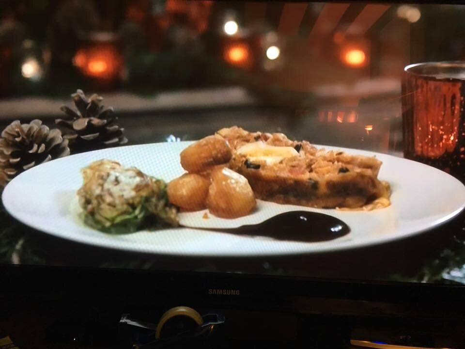 "Roni Bandong's Rellenong Manok was judged ""Best Alternative Christmas Dish"" on the UK television show 'Kirstie's Handmade Christmas'  (Photo courtesy by Roni Bandong and Gina Consing McAdam)"