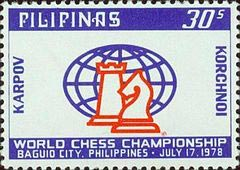 Thirty (30  sentimos  (cents)) commemorative stamp issued for those 1978 World Championships.