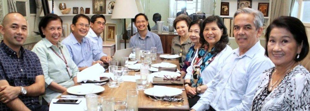 PWU's new Board of Trustees (L to R: Marco Benitez, Lyca Brown, Sunny Sevilla, Jay Lopez, Dr. Kiko Benitez, Mrs. Vicky A. Sales, Dr. Lita Quebengco, Dr. Patricia Araneta, Freddie Reyes and Marilou Mirasol)
