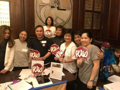 PWU alumni in the East Coast with Consul General Tess de Vega (right) at the Phil. Center in New York City