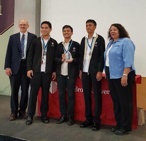 The Philippine Science High School Team winning second place at 2017 Clean Tech Challenge (Photo by Miggy Martija)