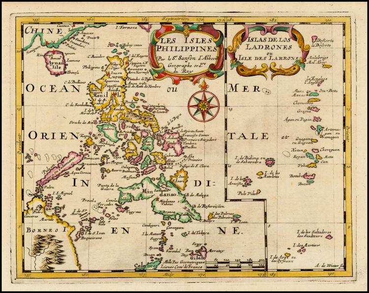 Maps of the Philippines and Islas de las Ladrones (Source: raremaps.com)