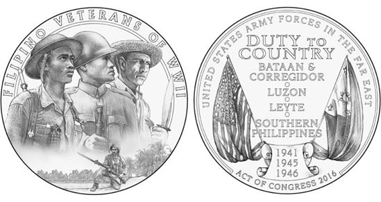 From L-R, the preferred designs of the obverse (front) and reverse (back) as approved by the Citizens Coinage Advisory Commission and the Commission of Fine Arts. The Department of the Treasury makes the final approval.