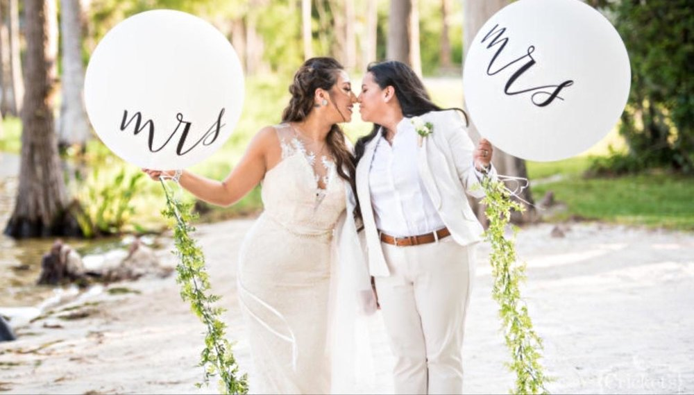 After eight years, Frances and Maria Simon-Diaz vow to love each other for life. (Photo by Cricket Photo and Cinema)