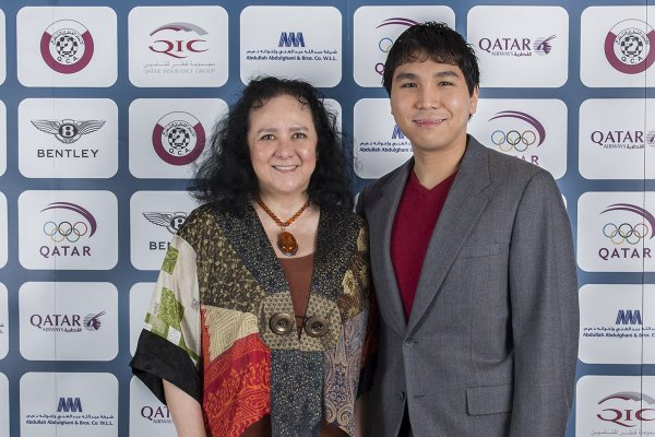 Lotis Key-Kabigting with Wesley So at the Qatar Open (Source: twitter.com)