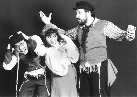 Miguel Faustmann and Michael Williams in the 1991 production of Fiddler on the Roof.