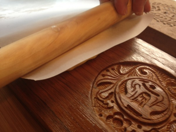 Pan de San Nicolas vintage wooden cookie mold are handcrafted in Betis, Pampanga (Photo by Elizabeth Ann Quirino)