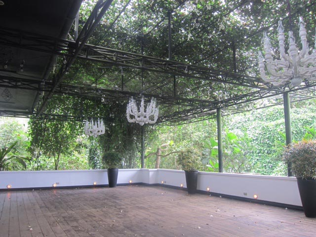 This deck is an extension of the ballroom.