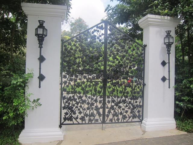 This wrought-iron gate leads to Lanai Lounge, one of Antonio's newest additions to the property.
