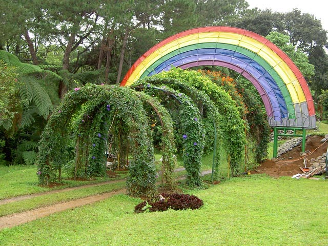 The rainbow drive at Eden Nature Park.