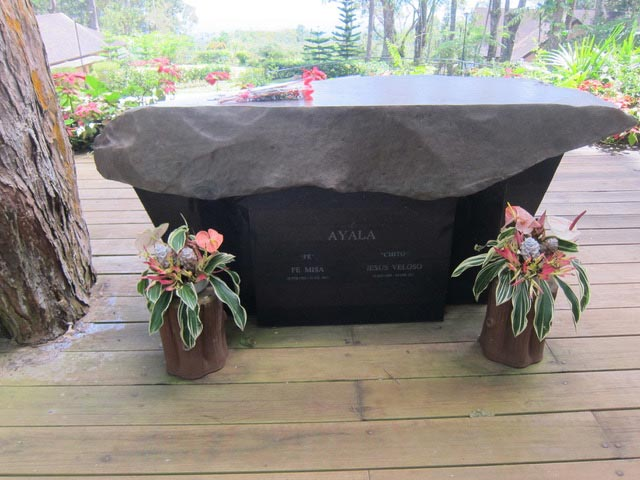 "The ""altar"" where the ashes of Fe and Chito Ayala are kept."