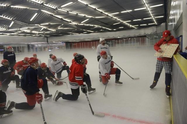 The Philippine Ice Hockey Team (Photo by Ted Aljibe/AFP)