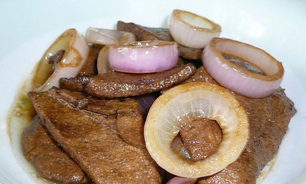 Beef liver bistek (Source: overseaspinoycooking.net)