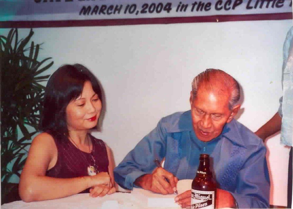 The author and Nick Joaquin (Photo courtesy of Maria Carmen Sarmiento)