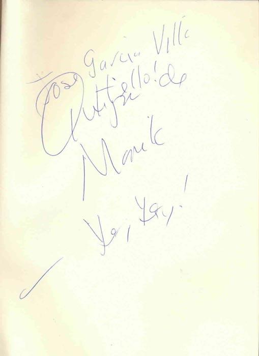 Nick Joaquin's dedication on the author's copy of Manila, My Manila (Photo courtesy of Maria Carmen Sarmiento)