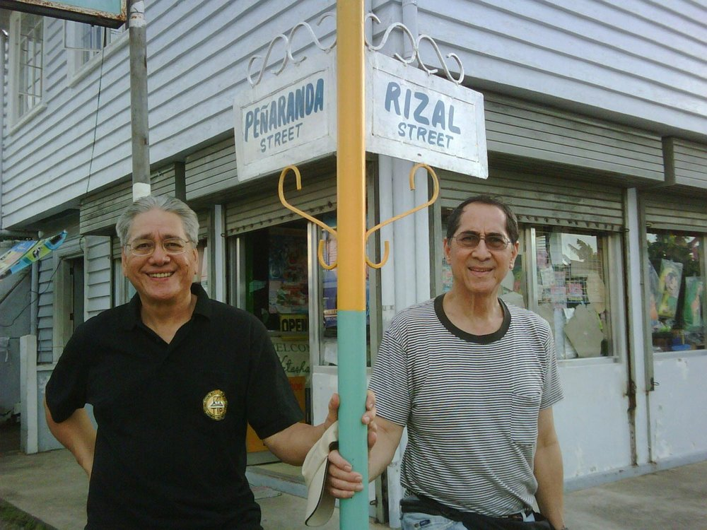 Main Street in Barugo named after my Lolo, with brother Gil, 2011