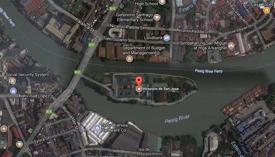 Google map of Isla de Convalescensia