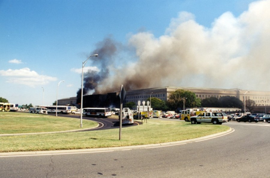 The Pentagon hit on 9/11 (Photo from FBI files/Scripps Media)