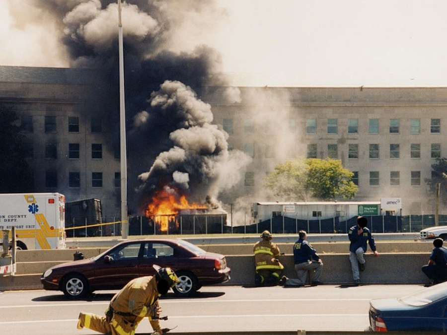 First responders on the scene at the Pentagon (Photo from FBI files/Scripps Media)