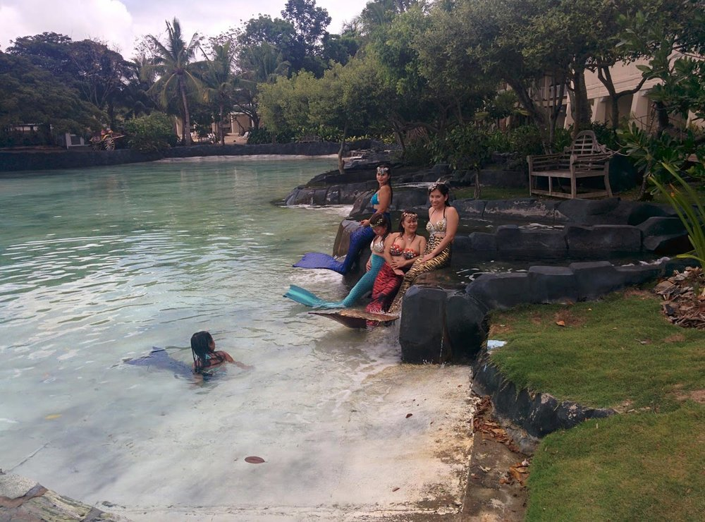 The mermaids of Plantation Bay Resort in Mactan (Photo by Cecilia Manguerra-Brainard)