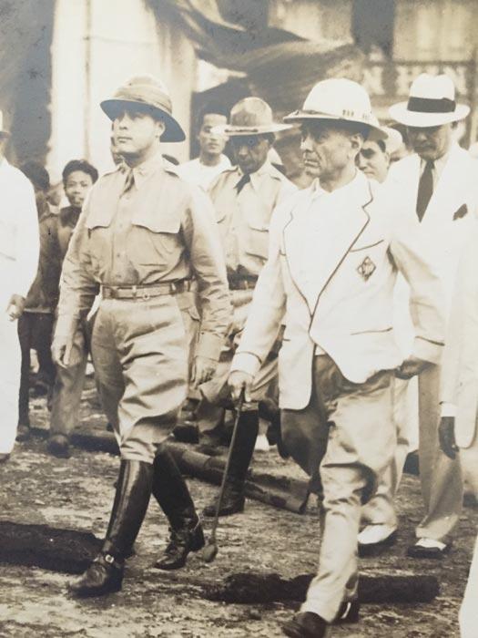 Major General Basilio Valdes and President Manuel L. Quezon