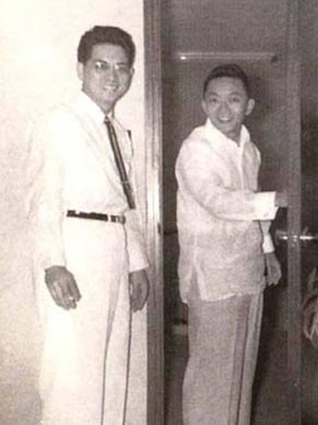 Mr. SyCip with Fred Velayo in the early days of SGV & Co. (Source: washingtonsycip.org)