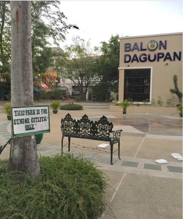 Senior citizen park in Dagupan City (Photo by Rene Astudillo)