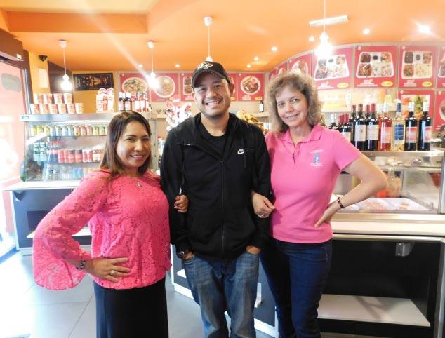 Liz Marasigan Fishburn, Christopher Duñes, and Limda Harley (Photo by Rey E. de la Cruz. Photo editing by Ivan Kevin Castro)