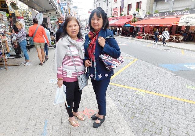 Mayette Tolibas and Amy Sales(Photo by Rey E. de la Cruz. Photo editing by Ivan Kevin Castro)
