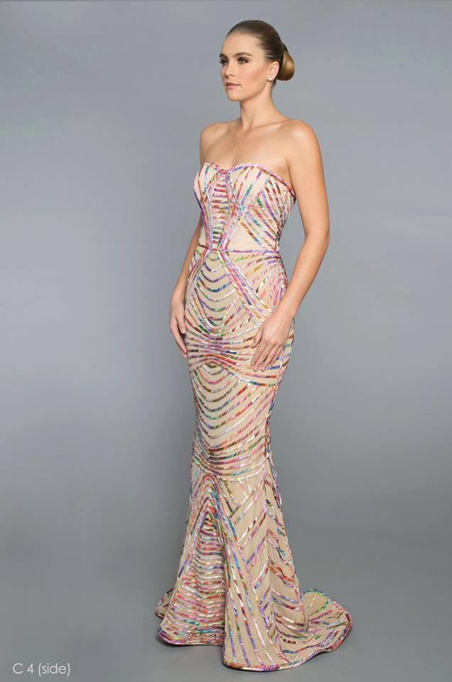 "The ""nude mermaid gown."""