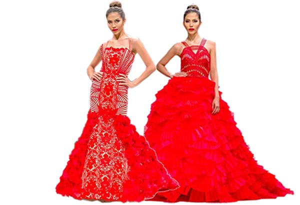 Lush, classic and romantic are hallmarks of Tolentino's haute couture designs.