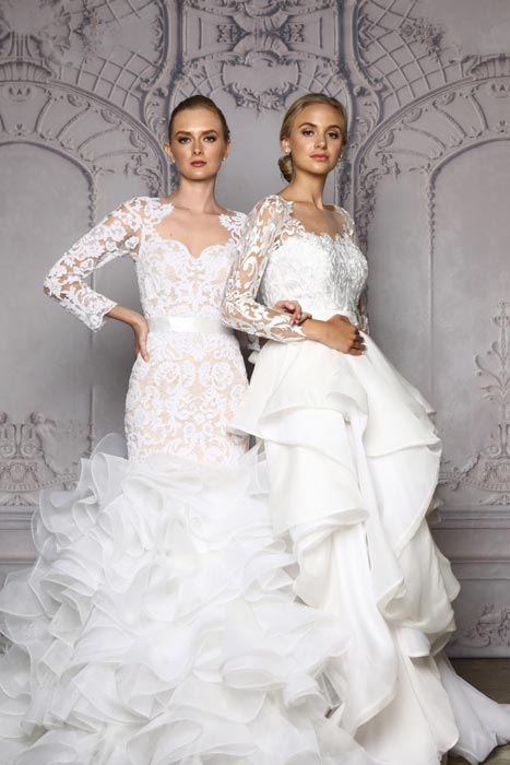 Again, supremely feminine wedding gowns by OT.